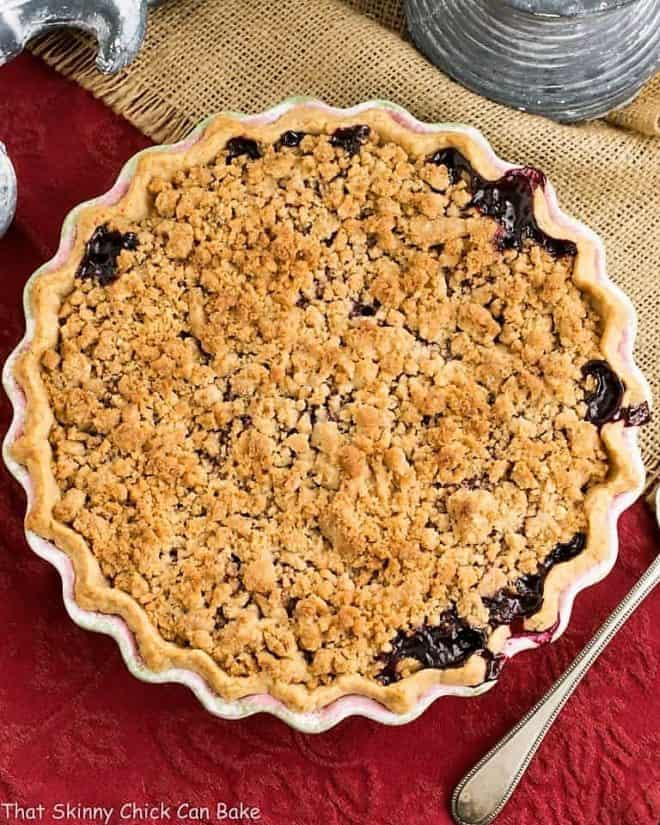 Razzleberry Pie or Triple Berry Pie viewed from above
