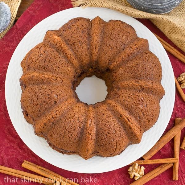 Overhead view of Sour Cream Streusel Coffee Cake