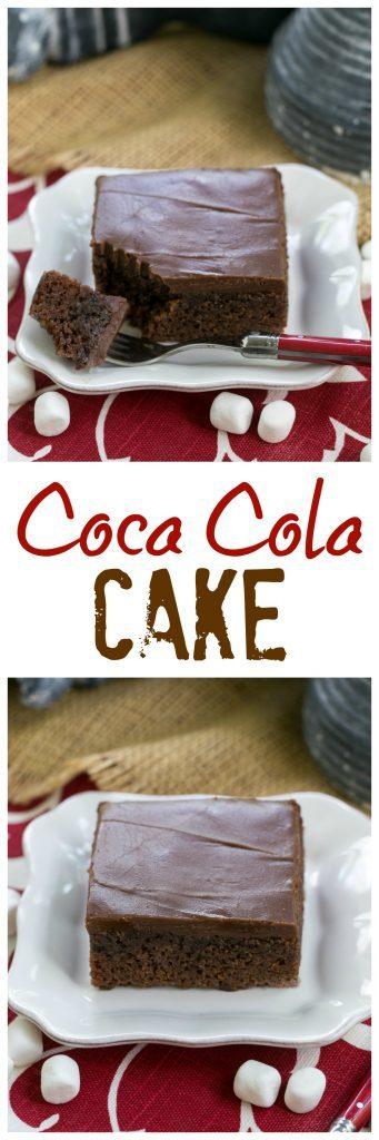 Classic Coca Cola Cake Pinterest collage images
