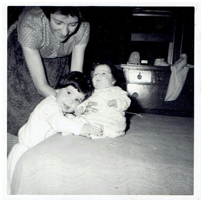Mom with me and my sister, Katie