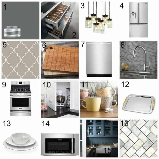 Dream Kitchen Design Board @Lowes @Frigidaire #sponsored