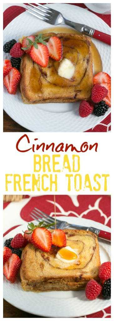Overnight Cinnamon Bread French Toast - a scrumptious, make ahead brunch dish!