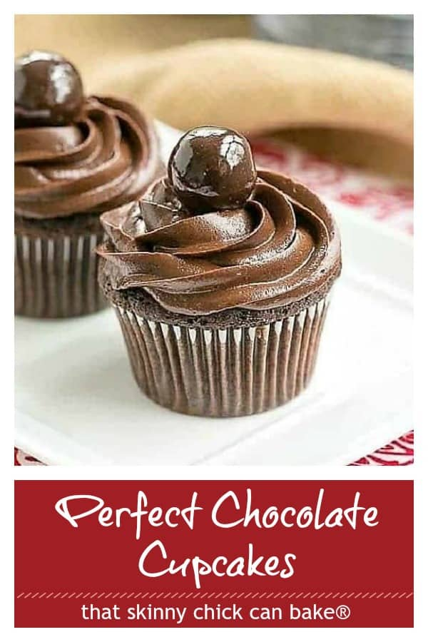 Perfect Chocolate Cupcakes Photo and text collage for Pinterest