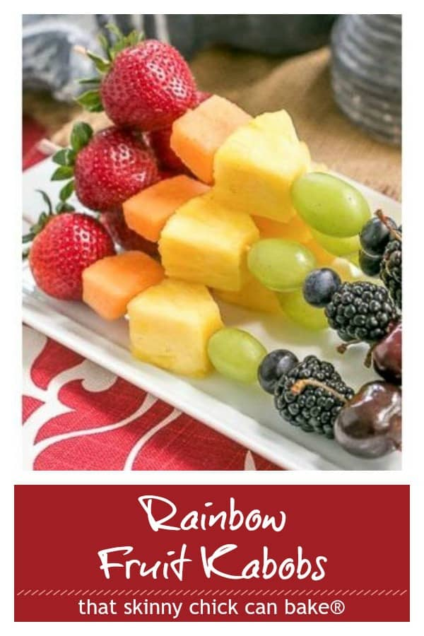 Rainbow Fruit Kebabs photo and text collage