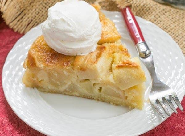 French Apple Cake | A rustic cake with a high apple to cake ratio!