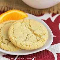 Chewy Orange Cookies on a white plate