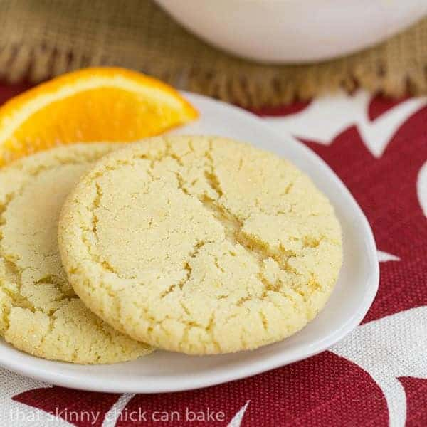 Orange Crinkles | Chewy orange cookies with a crackled top