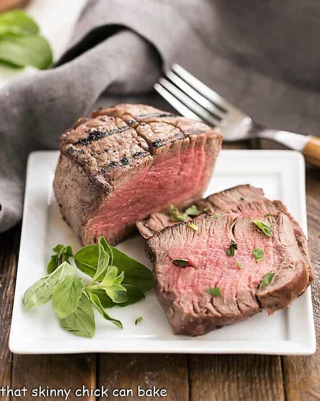 Grilled Tenderloin with Garlic Herb Butter