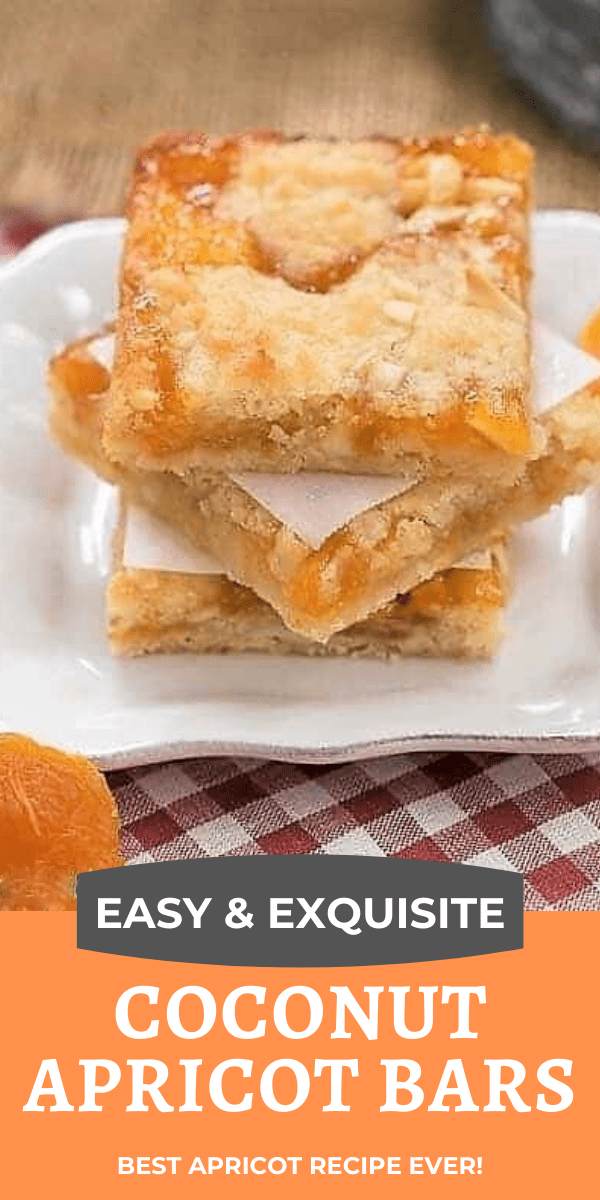 Coconut Apricot Bars photo and text collage