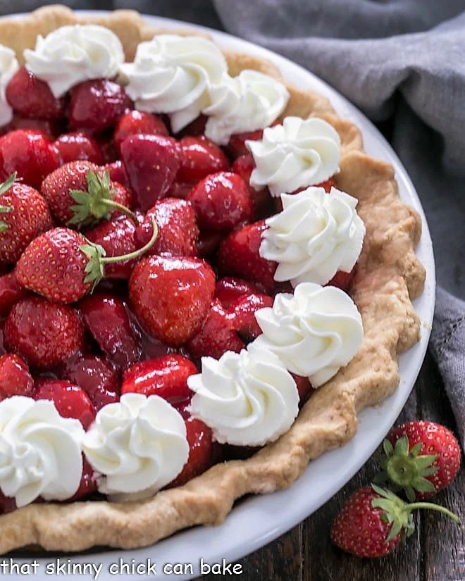 Fresh Strawberry Pie Recipe - No Jello needed, just pure ripe strawberry flavor for the perfect summer dessert!