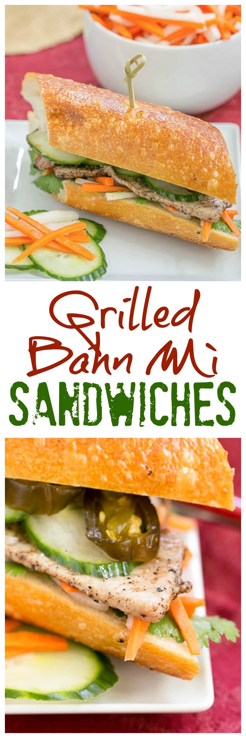 Grilled Pork Báhn Mì Sandwich
