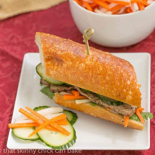 Grilled Pork Báhn Mì Sandwich |The classic Vietnamese sandwich you can make at home!