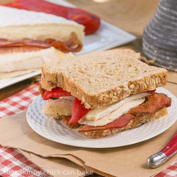 Roasted Chicken, Brie and Bacon Sandwich