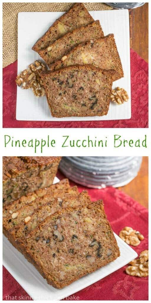Pineapple Coconut Zucchini Bread | The ultimate summer quick bread with walnuts, pineapple and coconut!