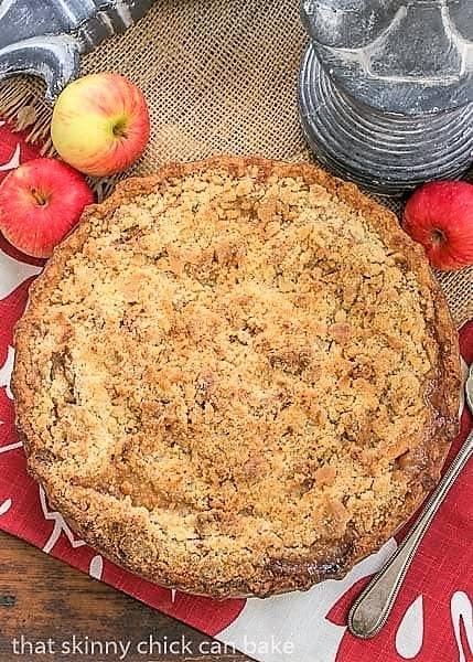 Overhead view of Dutch Apple Pie