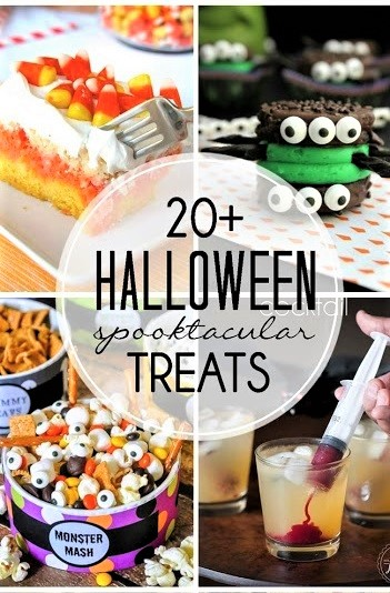 Halloween Treats photo and text collage