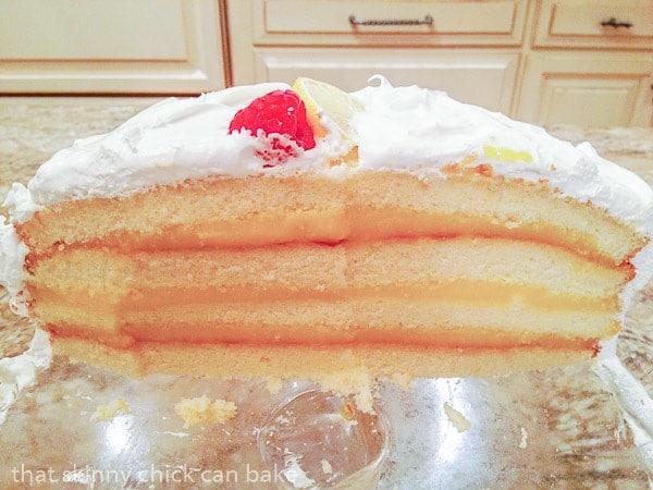 Interior of Lemon Layer Cake