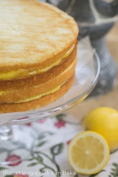 Lemon Layer Cake layers stocked and unfrosted