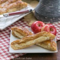Maple Glazed Apple Tart - Puff pastry, sweetened cream cheese, apples and a maple glaze make for a spectacular breakfast or dessert