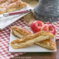 Maple Glazed Apple Tart | Puff pastry, sweetened cream cheese, apples and a maple glaze make for a spectacular breakfast or dessert