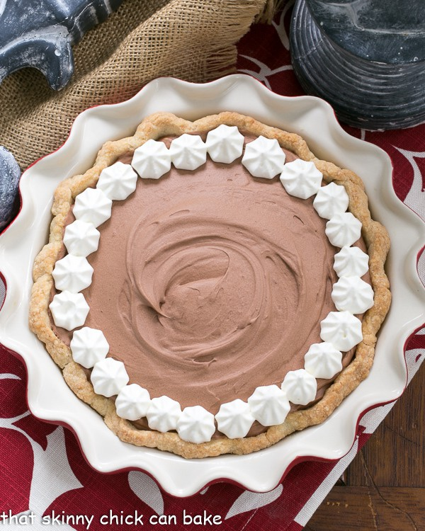 Classic French Silk Pie overhead view