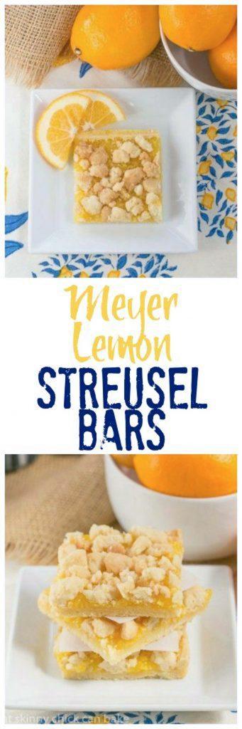 Meyer Lemon Streusel Bars
