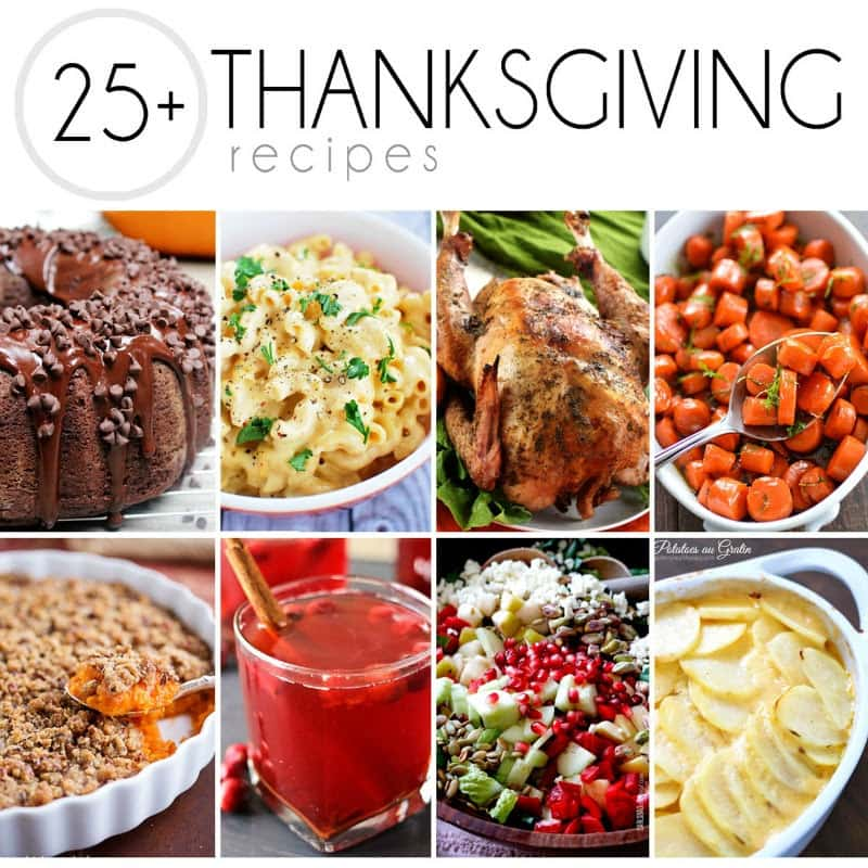 25 Best Thanksgiving recipes collage