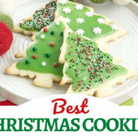 Best Christmas cookies collage with 1 photo over a text box