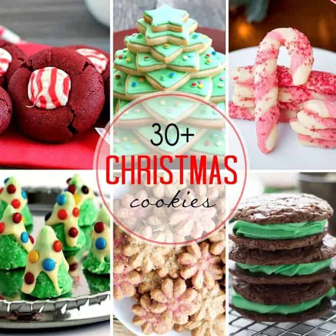 Round Up of over 30 of the BEST Christmas Cookies photo collage