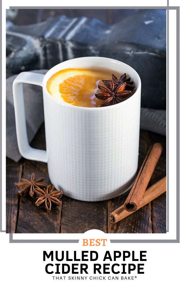 Mulled Apple Cider collage with a photo and a text box