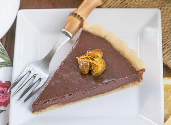 Semisweet Chocolate Tart   Semisweet chocolate tart with a buttery crust and a touch of Grand Marnier