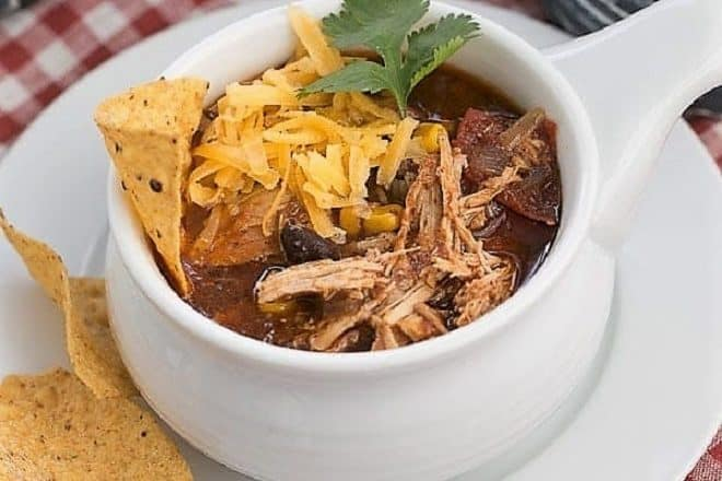 Slow Cooler Chicken Enchilada Soup featured image