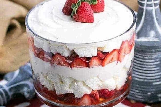 Strawberry Cheesecake Trifle featured image