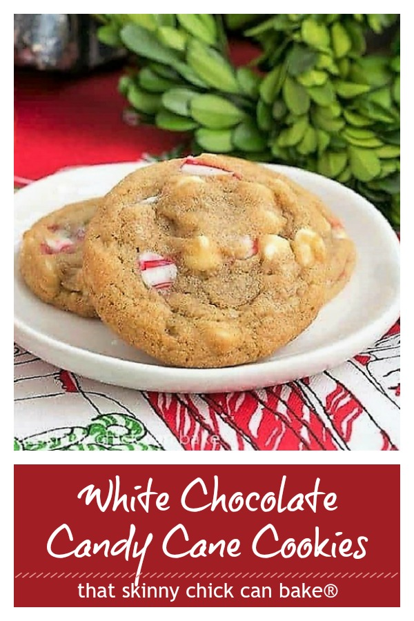 White Chocolate Candy Cane Cookies photo and text collage