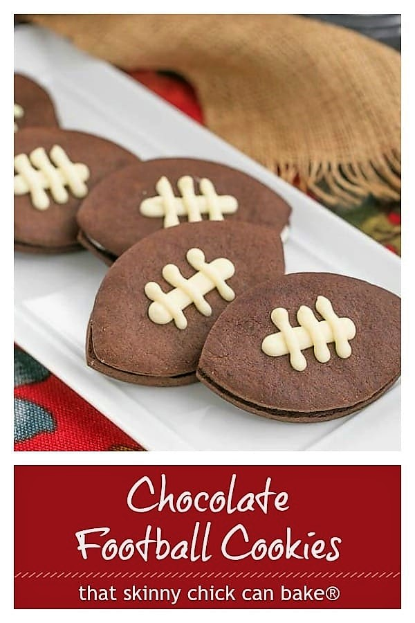 Chocolate Football Cookies photo and text collage