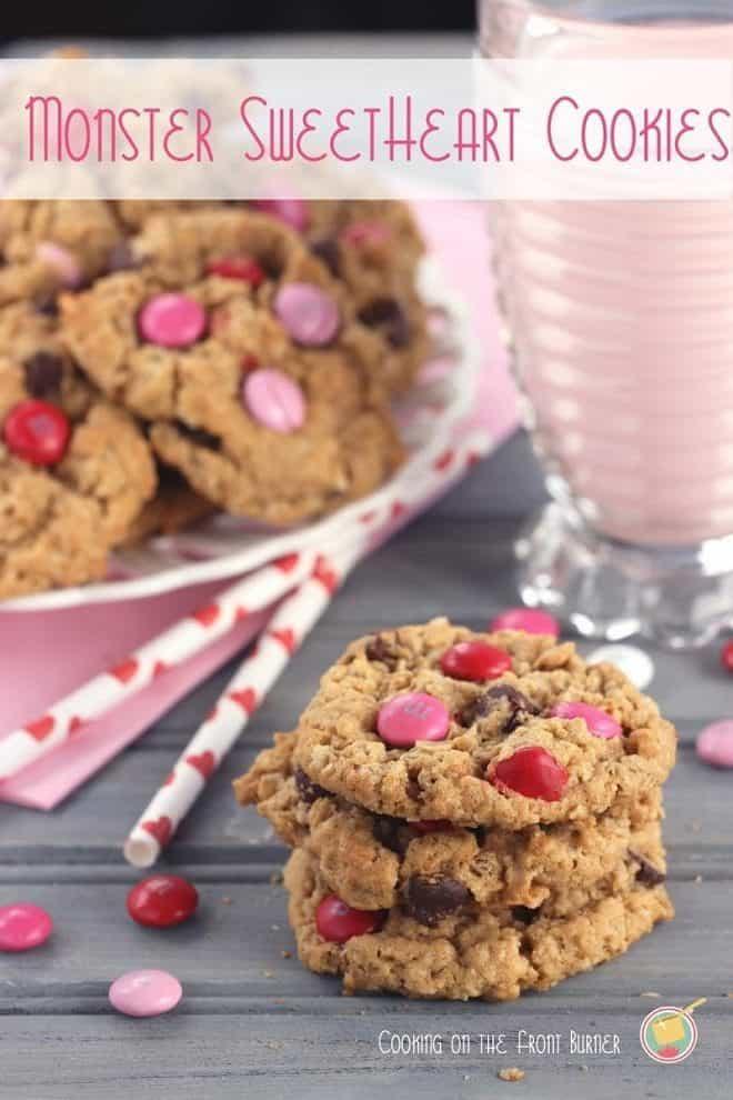 Monster sweetheart cookies stacked