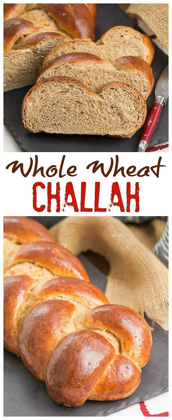 Whole Wheat Challah Pinterest collage