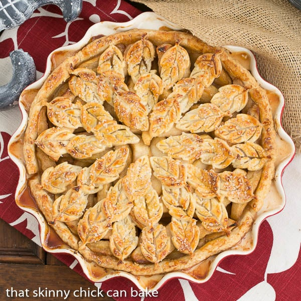 Leaf Topped Apple Pie | A scrumptious apple pie with a fun pastry topping
