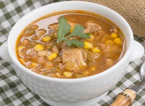 bowl of Chili Blanca (white bean chicken chili)