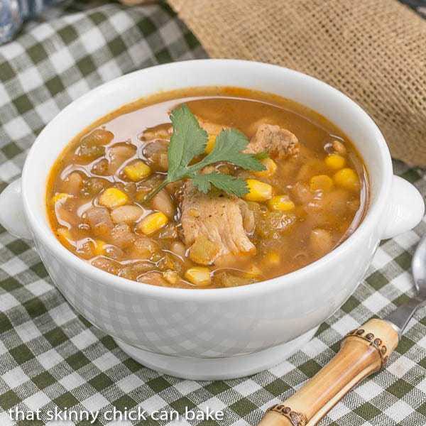 bowl full of Chili Blanca (white bean chicken chili)
