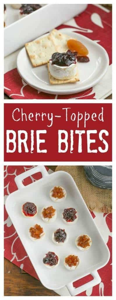 Cherry Topped Brie Bites