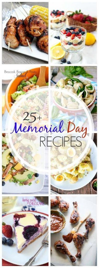 25+ Memorial Day Recipes pin collage