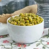 Roasted Creole Edamame | A healthy, flavorful snack!