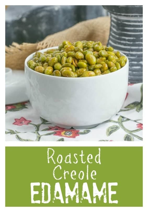 Roasted Creole Edamame pin collage