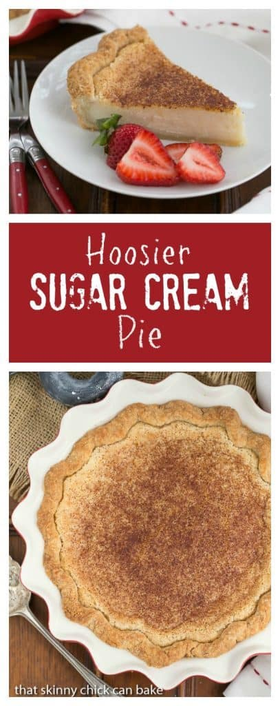 Sugar Cream Pie | A classic dessert in Indiana made with sugar, cream and vanilla!