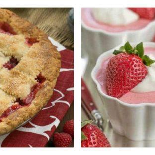Berry Desserts collage