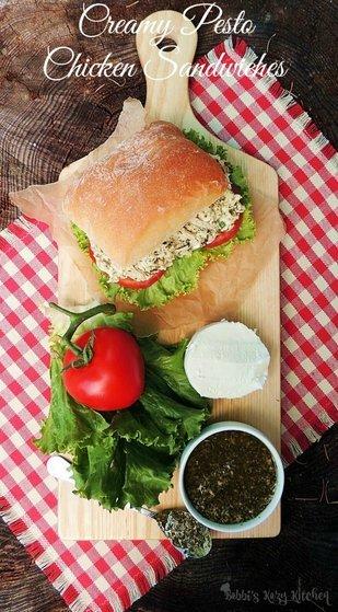 Creamy Chicken Pesto Sandwiches | Picnic Recipes