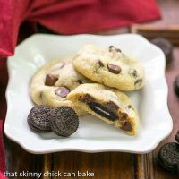 Oreo Stuffed Chocolate Chip Cookies | TWO cookies in one for a spectacular treat!