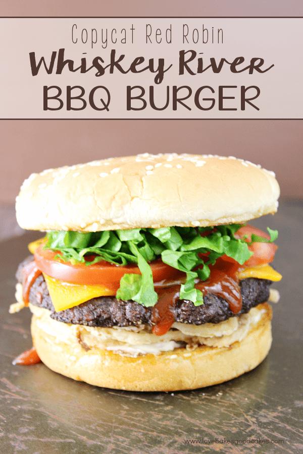 Whiskey River BBQ Burger on a bun