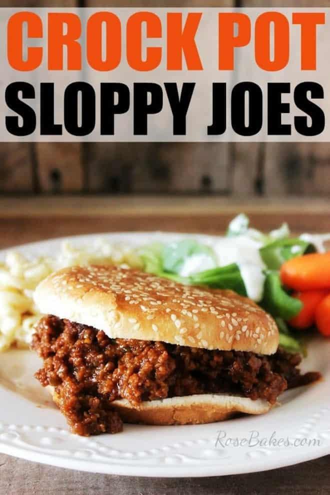 Crock Pot Sloppy Joes